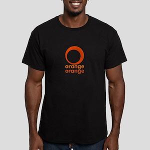orange orange Men's Fitted T-Shirt (dark)