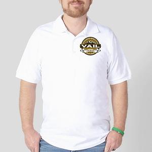 Vail Tan Golf Shirt