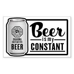 Beer Is My Constant Sticker (Rectangle 50 pk)