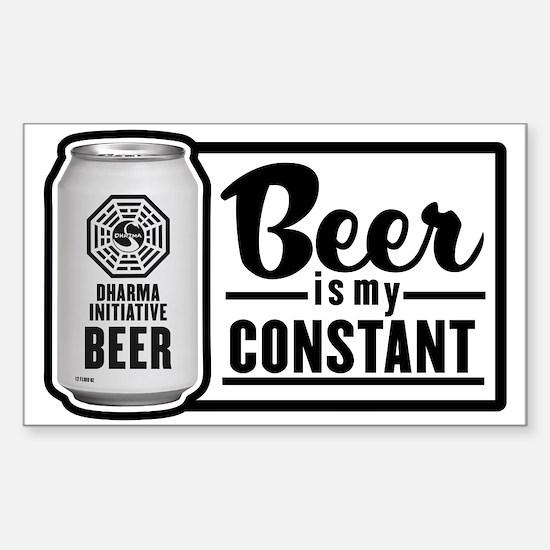 Beer Is My Constant Sticker (Rectangle)