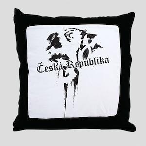 Czech Republic grungy Throw Pillow