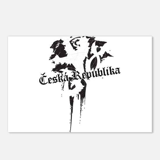 Czech Republic grungy Postcards (Package of 8)