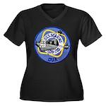 USS GEARING Women's Plus Size V-Neck Dark T-Shirt