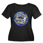 USS GEAR Women's Plus Size Scoop Neck Dark T-Shirt