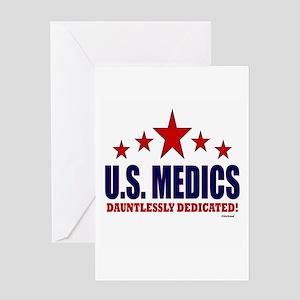 U.S. Medics Dauntlessly Dedicated Greeting Card