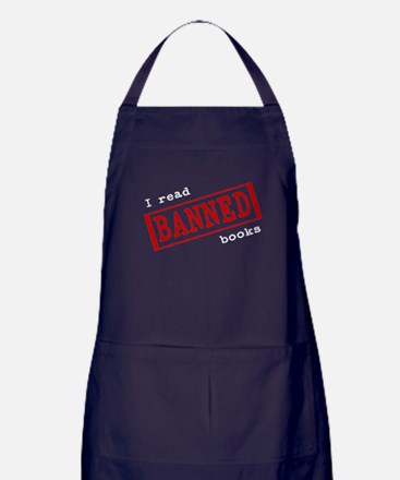 Banned Books Apron (dark)