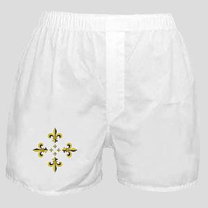 Fleur de Lis Black & Gold Spr Boxer Shorts