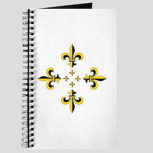 Fleur de Lis Black & Gold Spr Journal