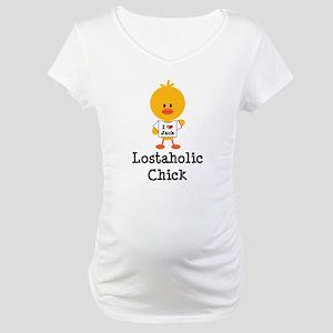 Jack Lostaholic Chick Maternity T-Shirt