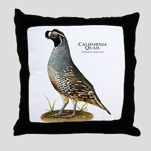 California Quail Throw Pillow