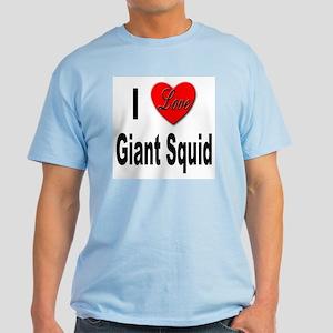I Love Giant Squid Light T-Shirt
