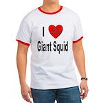 I Love Giant Squid Ringer T