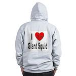I Love Giant Squid (Back) Zip Hoodie