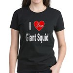 I Love Giant Squid (Front) Women's Dark T-Shirt