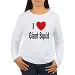 I Love Giant Squid (Front) Women's Long Sleeve T-S
