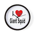 I Love Giant Squid Wall Clock