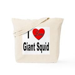 I Love Giant Squid Tote Bag