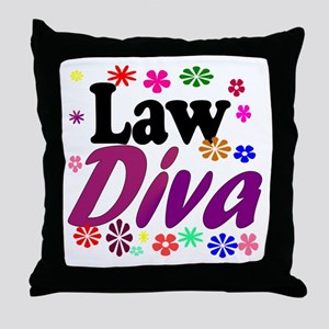 Law Diva (flowers) Throw Pillow