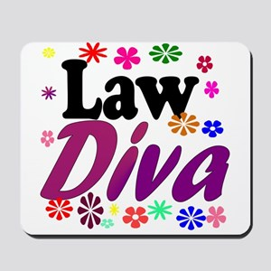 Law Diva (flowers) Mousepad