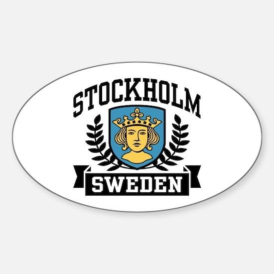 Stockholm Sweden Sticker (Oval)