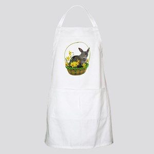 Easter Bunny Cat Daffodils Apron