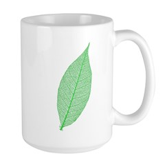 Green Leaf Large Mug
