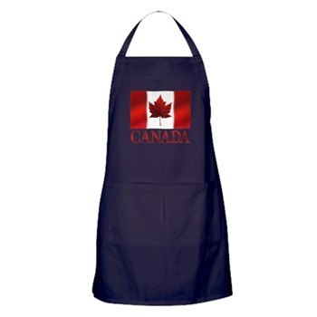 Canada Flag Canadian Souvenir Apron (dark)