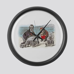 The Walrus and the Carpenter Large Wall Clock