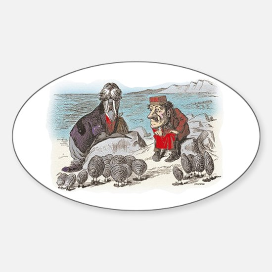 The Walrus and the Carpenter Sticker (Oval)