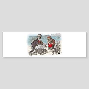 The Walrus and the Carpenter Sticker (Bumper)