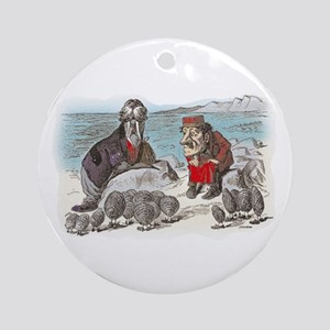 The Walrus and the Carpenter Ornament (Round)