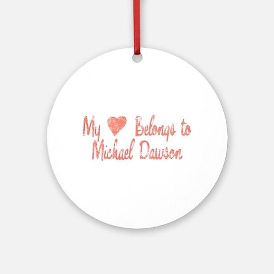 Heart Michael Dawson Ornament (Round)