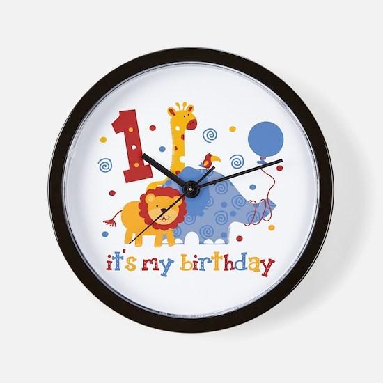 Safari 1st Birthday Wall Clock