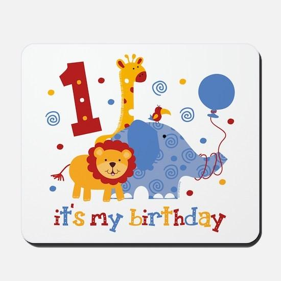 Safari 1st Birthday Mousepad