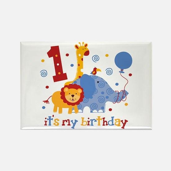 Safari 1st Birthday Rectangle Magnet