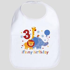 Safari 3rd Birthday Bib