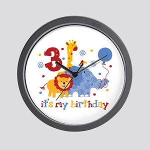 Safari 3rd Birthday Wall Clock