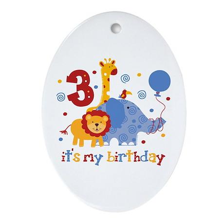 Safari 3rd Birthday Ornament (Oval)