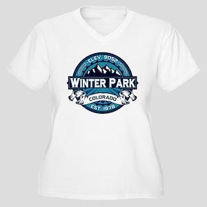 Winter Park Ice Women's Plus Size V-Neck T-Shirt