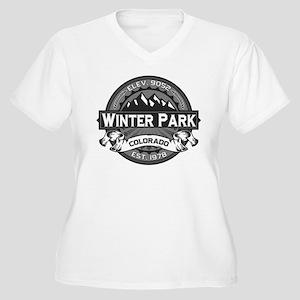 Winter Park Grey Women's Plus Size V-Neck T-Shirt