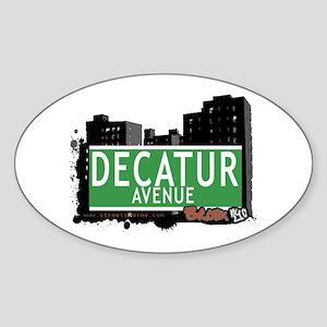 Decatur Av, Bronx, NYC Sticker (Oval)