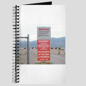 Back Gate Warning Sign Journal