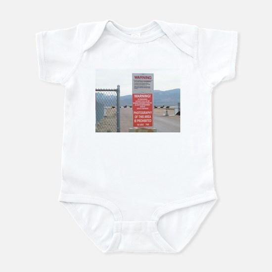 Back Gate Warning Sign Infant Bodysuit