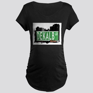 Dekalb Av, Bronx, NYC Maternity Dark T-Shirt