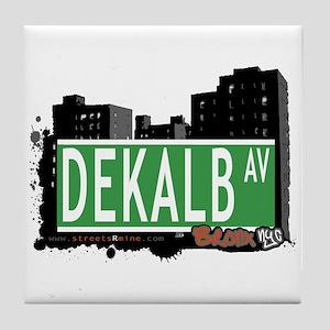Dekalb Av, Bronx, NYC Tile Coaster