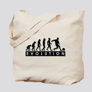 Evolution of a Soccer Player Tote Bag