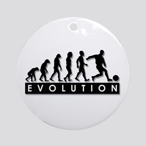 Evolution of a Soccer Player Ornament (Round)