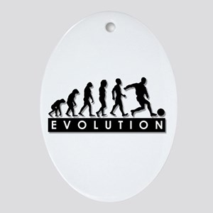 Evolution of a Soccer Player Ornament (Oval)