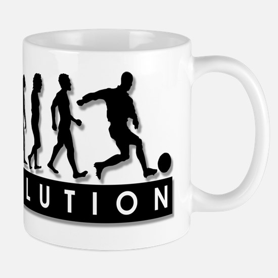 Evolution of a Soccer Player Mug