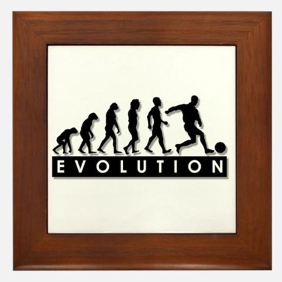 Evolution of a Soccer Player Framed Tile